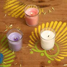 Solimo Votive Glass Candles, Pack of 6 (Scented - Rose, Jasmine & Lavender)