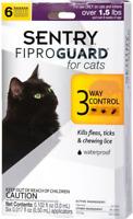 Sentry Fiproguard Flea and Tick Topical Drops for Cats 6 Doses Treatment Control