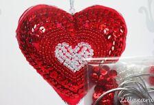Herz Deko selber besticken Stickpackung mit Perlen  Pailletten Komplett 448