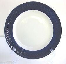 PRE-OWNED WINDSOR BROWN BLUE LATTICE SALAD PLATE – 8 INCHES