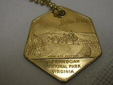 Vintage Good Luck Key Chain Shenandoah National Park Virginia Skyline Drive