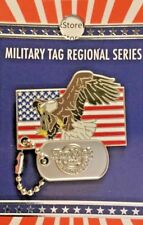 2018 HARD ROCK CAFE WASHINGTON DC MILITARY TAG SERIES BALD EAGLE/US FLAG LE PIN