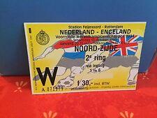 Football Ticket -  Nederland - Engeland Angleterre England - 1993 Uefa