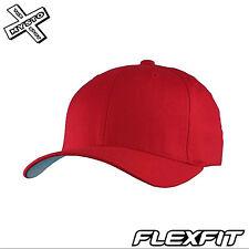 """ORIGINAL Flexfit Rouge Casquette Baseball L/XL 7 1/8 """"~ 18.7cm Taille Unique"""
