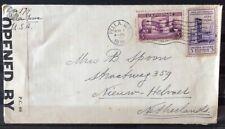 NEDERLAND; Censuurbrief vanuit PELLA, Iowa, Verenigde staten 1 nov 1939