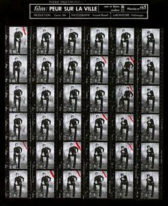 Belmondo photos de Vincent Rossell, planche contact 143 Peur sur la ville 1974