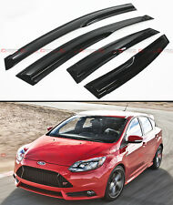 2012-2016 FORD FOCUS 4 DOOR HATCHBACK ST MUGEN 3D STYLE SMOKE WINDOW VISOR SHADE