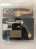 New Buck 110 Folding Hunter Collectors Edition Edge of a Legend Tin