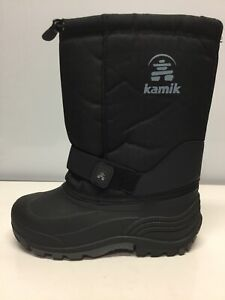 Kamik Canada Insulated Winter Mid Calf Boots Red Wool Liner Womens Size 6.⭐️