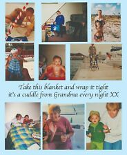 Personalised photo fleece blanket DOUBLE LAYERED THICKNESS