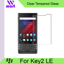 [2 Pack] Clear Tempered Glass Screen Protector For Blackberry Key2 LE / Lite