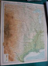 1922 LARGE ANTIQUE MAP- UNITED STATES-CENTRAL SECTION