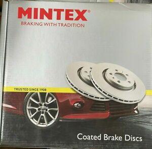 BRAKE DISCS X2 300mm REAR FITS BMW 1 SERIES 3 SERIES MINTEX COATED MDC1647C
