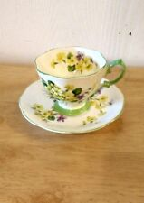 Royal Albert Primulette Yellow Flowers Tea Cup and Saucer.