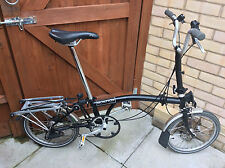 Brompton M3R Black 3 speeds w. carrier Folding Bike Bicycle Worldwide Postage