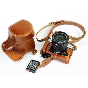 For Fujifilm XT20 Case PU Leather Original Camera Lens Full Cover Alloy Base