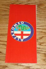 Original 1975 Alfa Romeo Full Line Sales Brochure 75 GT Spider Veloce Berlina