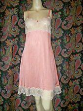 Vintage Romantic Traditions 2-Tone Silky Nylon Lacy Slip Nighty Lingerie 34