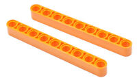 LEGO Technik - 2 x Liftarm dick 1x9 orange / 40490 NEUWARE (a29)