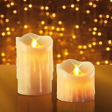 JML Miracle Flame Candles Real Wax Flameless LED Flickering Mood Light 2pc Set