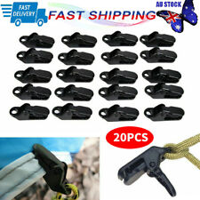 20pcs Awning Tarp Tent Clips Clamps Heavy Duty Clamp Camping Survival Tool