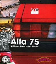ALFA ROMEO MILANO 75 DRIVEN TO BE DIFFERENT BOOK 3.0 V6 2.5 QV HISTORY KOEBRUGGE