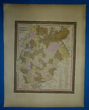 1849 S A Mitchell Universal Atlas Map ~ RUSSIA in EUROPE ~ Old Authentic