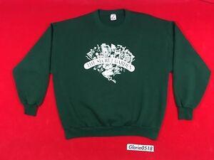 Vintage 1995 The Secret Garden Musical Forest Green White Crewneck Sweatshirt 2X