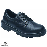 Toesavers 2414 S1P SRC Black Leather Steel Toe Cap Work Safety Shoes Footwear