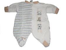 Baby Butt toller Schlafanzug Gr. 50 / 56 beige-weiß mit Giraffen Motiven !!