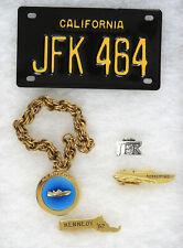 1960s John F. Kennedy Tie Clips, Pinback, Bracelet