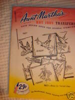 Vintage AUNT MARTHA'S TRANSFER Birds #9637