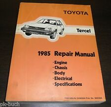 Reparaturanleitung Workshop Repair Manual Toyota Tercel L20 Modell 1985
