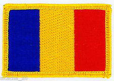 PATCH ECUSSON BRODE DRAPEAU ROUMANIE INSIGNE THERMOCOLLANT NEUF FLAG PATCHE