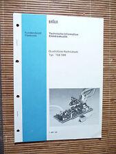 Manual de servicio para marrón tqe 1000, original