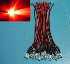 (10 PCS) Red 5mm LED Pre Wired Light 12V 20cm Bulb DC 9v 5v