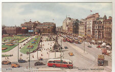 Piccadilly Manchester - Art Card c1940
