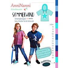 Schnittmuster AnniNanni Sommerwind T-Shirt Mädchen und Jungen Gr. 86 bis 164