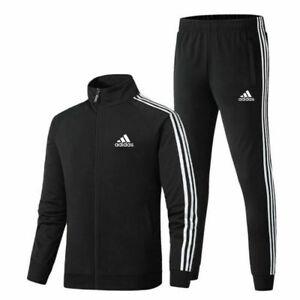 2021 UK Mens Adidas Tracksuit Suit Pants Track Jacket Top S-3XL