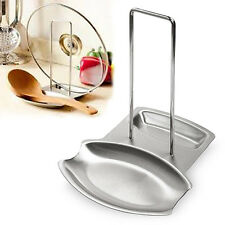 Pan Pot Lid and Spoon Rest Stand Holder Stainless Steel Cooking Tools Organizer