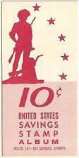 U.S. Savings Stamp Album 10 Cents 1964 No Stamps