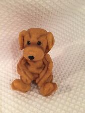 Adorable Goldie the Dog figurine, Statue 5th Nov 1999 Brown Resin 3""