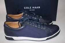 NIB COLE HAAN Size 8.5 Men's Blazer Blue Leather Canvas VARTAN SPORT Sneaker