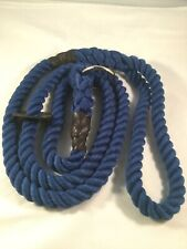 Handmade Hand Spliced 12mm Blue Rope Dog Slip Lead Gundog Pet Obedience Labrador