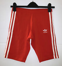 ADIDAS ORIGINALS RED WHITE 3 STRIPES CYCLING SHORTS SIZE 8