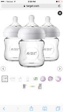 Avent Philips natural glass bottles 4oz 3 pack