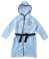 Boys Dressing Gown Manchester City Bath Robe Football MCFC Hoody 3 to 12 Years