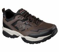 Skechers Wide Fit Brown shoes Men's Memory Foam Sport Train Comfort Casual 52700