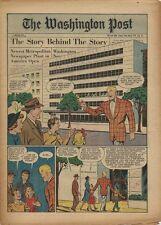 1950 Newspaper Comic Supplement - Joe Palooka Tours The New Washington Post