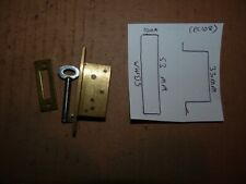 BRASS CABINET / DRAWER LOCK  WITH BRASS PLATE
